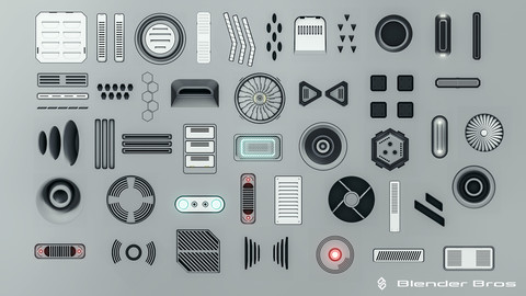 Blenderbros SciFi Vent Decal Pack