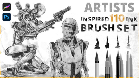 Artist Inspired 110 ink Brushset