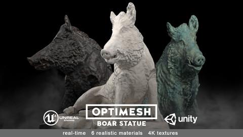 Boar wild hog statue - 3D BR model Low-poly