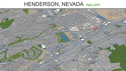 Henderson city Nevada 3d model 50km