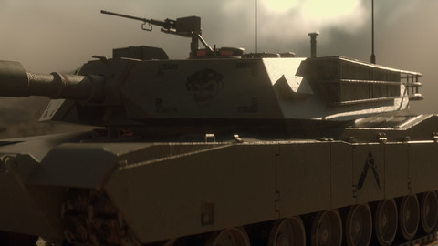 Tank Low-Poly Model | Octane scene | UDIMM 32k