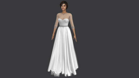 wedding dress- Marvelous designer & CLO3D projects