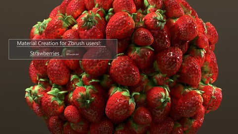 Material Creation for Zbrush users!:  Strawberries