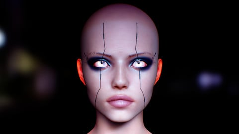 Female Head Substance painter file and model