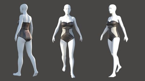 Swimsuit - Marvelous designer & CLO3d projects + OBJ