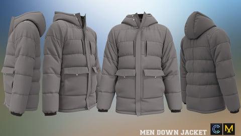 MEN DOWN JACKET, marvelous designer,clo3d