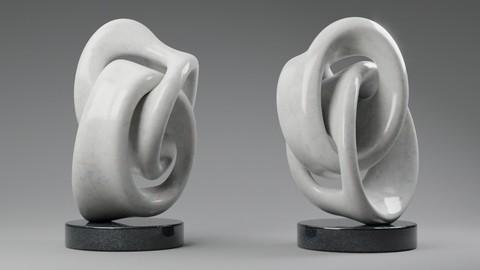 Modern abstract sculpture 037