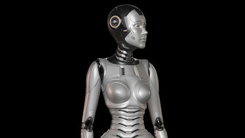SCI - FI ROBOT WOMAN RIGGED STANDARD EDITION 3D model