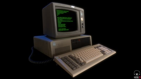 IBM PC Computer - Blender 2.9 Project & Prop