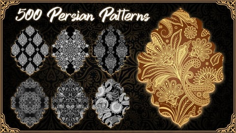 500 Persian Patterns Library ( Toranj )** 4k **