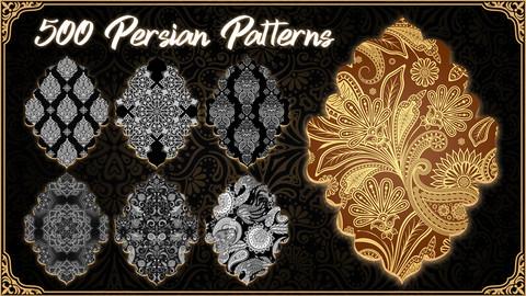 500 Persian Patterns Library ( Toranj )** 4k **