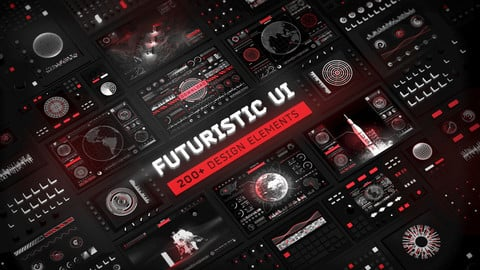 Futuristic UI Kit – 200 Sci-Fi design elements