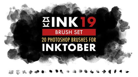 INK 19 Brush Set for Inktober 2020
