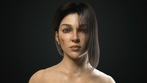 REALISTIC FEMALE 3D MODEL (Warrior Girl)