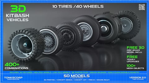 50 Wheel KITBASH TURBO Detailing Pack