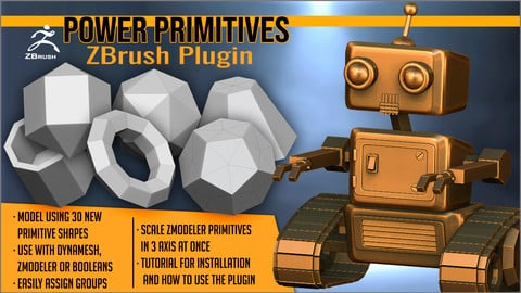 Power Primitives ZBrush Plugin