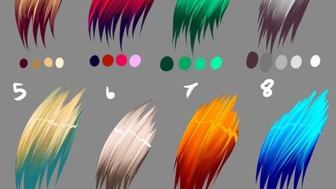 Hair Colors Palette 2 for Clip Studio Paint and Ex