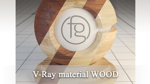 VRay Material Wood