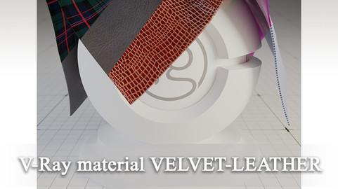 VRay Material Velvet-Leather