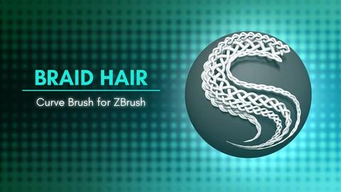 [IMM Brush] Braid Hair Curve Brush for ZBrush 2021