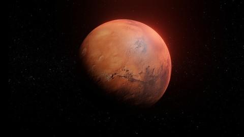 Photorealistic Mars 8k Textures 3D Model