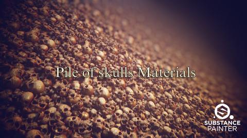 Pile of skulls Materials