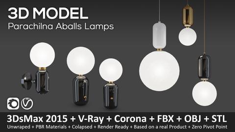 Parachilna Aballs Lamps - 3D Model (3ds Max 2015 + Vray + Corona + FBX + STL + Obj)