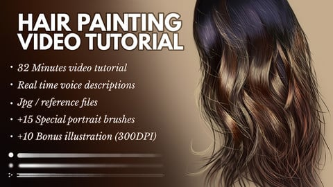 Hair Painting In Photoshop - Video Tutorial