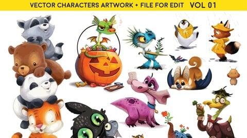 Cartoon Animals SET-VOL 01