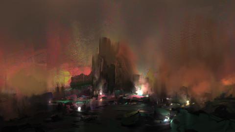 Fantasy Environment Sketch PSD