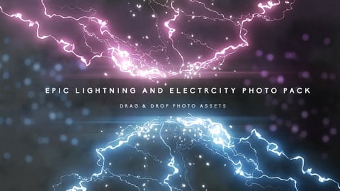 Epic Lightning and Electricity Stock Photo Pack for Digital Painting and Concept Design.