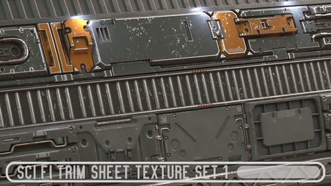 Scifi Trim Sheet Texture Set 1