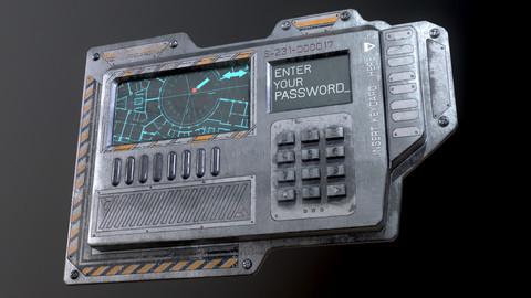 Door electric lock keypad /Card reader (Low-poly 3d Model)