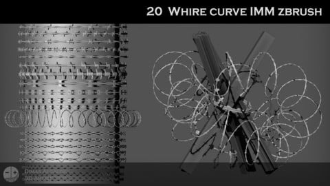 🧷 🖇️ 20  WHIRE curve IMM ZBRUSH