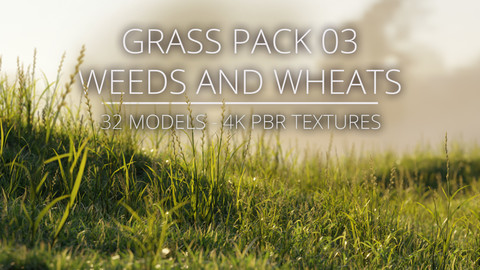 3D Grass Pack 03 - Weeds and Wheats