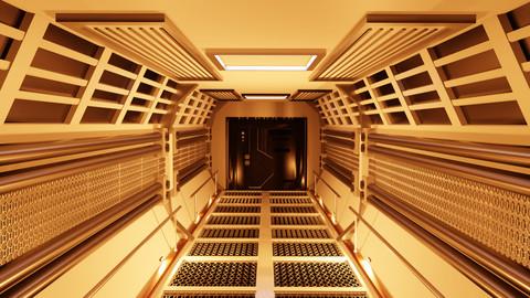 sci-fi corridor 3d model by cyberalex
