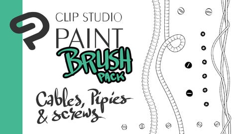 Clip Studio brush pack - TECH - Cables, pipes and screws