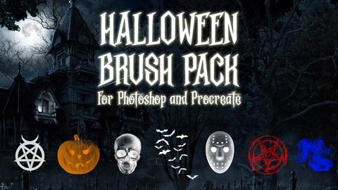 Gothic Halloween Brush Pack  Photoshop/Procreate