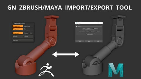GN ZBrush/Maya Import/Export Tool