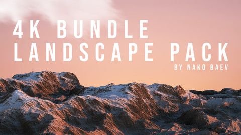 4K LANDSCAPE BUNDLE PACK - 20 Seamless Landscape Height Maps & 15 Realistic Terrain Maps + Textures.