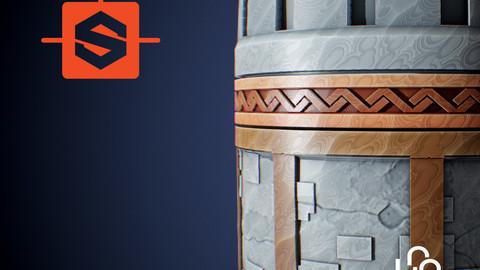 Substance Designer Tutorial - Stylized Castle Wall