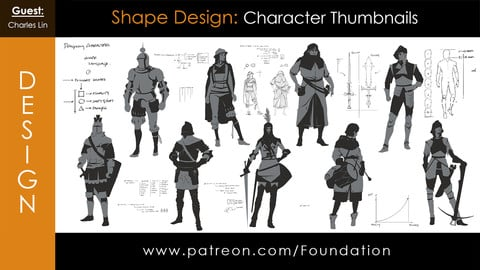 Foundation Art Group: Shape Design - Character Thumbnail with Charles Lin
