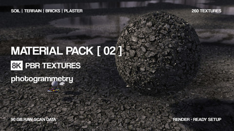 8K - 15 Material bundle | PBR Photogrammetry