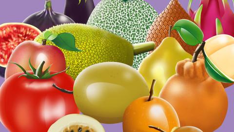 Alpahbet Letters Fruits