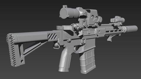 AR-10 SBR