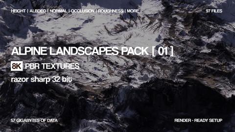 8K Alpine landscapes pack | 97 textures | 32 bit