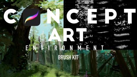 33 Concept art brushes Procreate