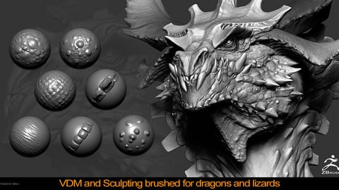 VDM and Sculpting Brushes for Dragons, Lizards and etc.