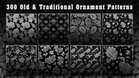 300 Old & Traditional ornament patterns
