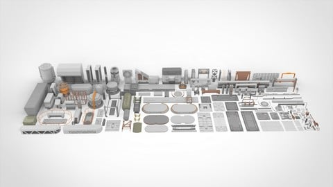 Sci-Fi architecture Elements collection 24